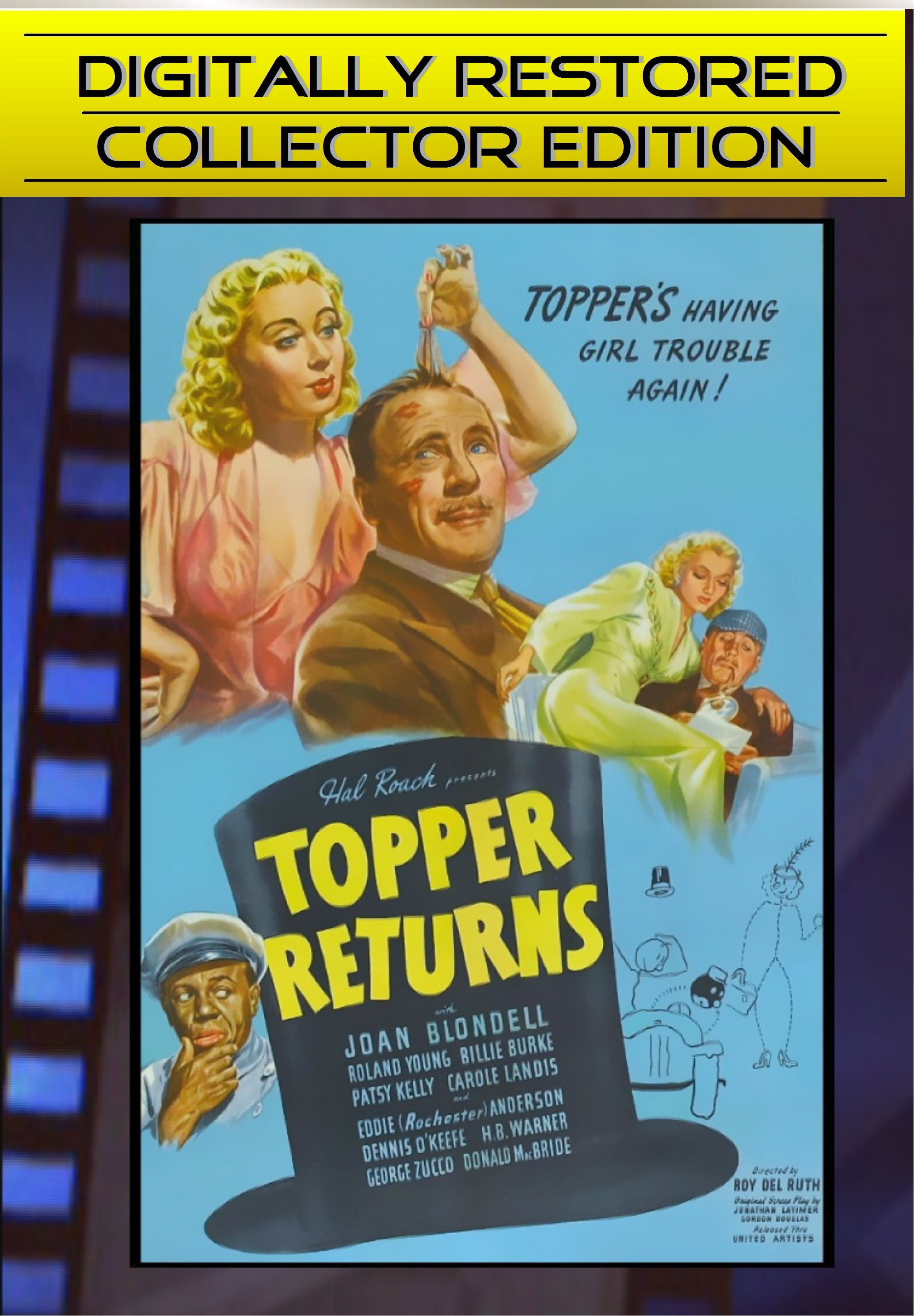 Topper Returns ~ DIGITALLY RESTORED ~ Joan Blondell, Roland Youn